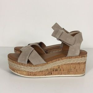 Franco Sarto Leather Nelly Espadrille Sandals